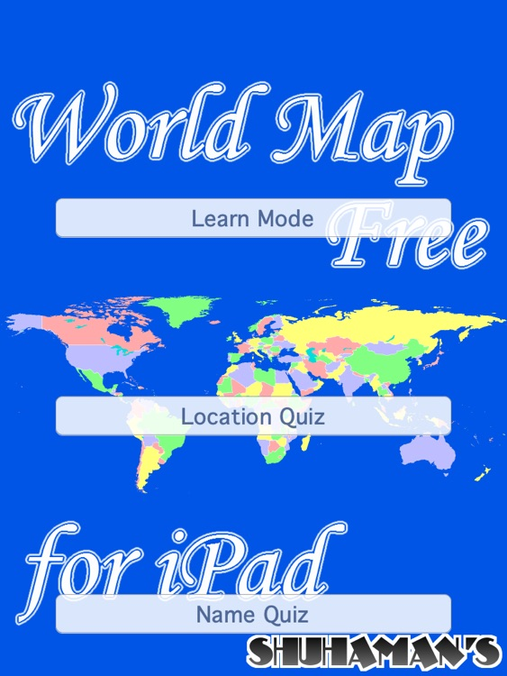 World Map Free for iPad