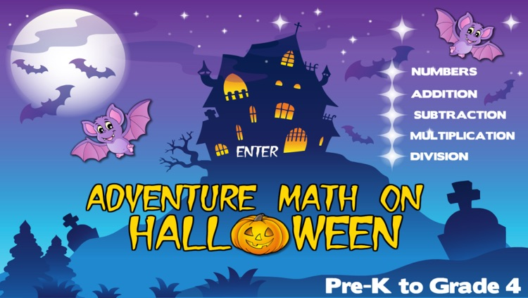 Adventure Basic School Math  · Math Drills Challenge and Halloween Math Bingo Learning Games (Numbers, Addition, Subtraction, Multiplication and Division) for Kids: Preschool, Kindergarten, Grade 1, 2, 3 and 4 by Abby Monkey®