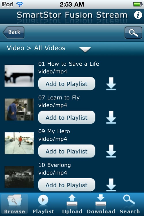 SmartStor Fusion Stream DLNA Digital Media App screenshot-3