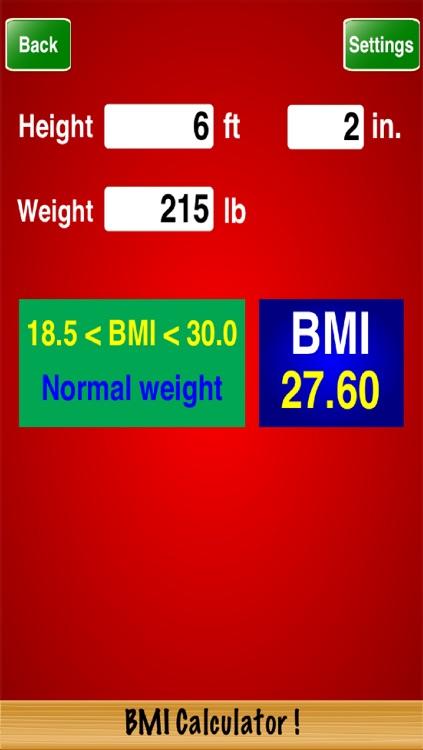 BMI Calculator !