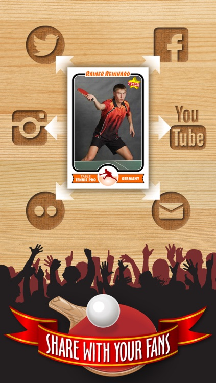 Table Tennis Card Maker - Make Your Own Custom Table Tennis Cards with Starr Cards screenshot-3