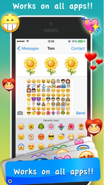 Emoji Emoticons & Animated 3D Smileys PRO - SMS,MMS Faces Stickers for WhatsApp screenshot-1