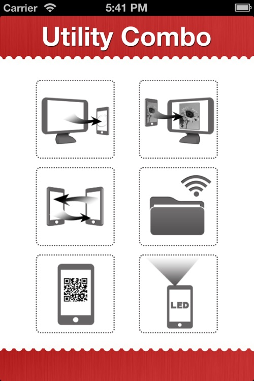 UtilityCombo - wifi backup, flash drive, QR barcode scan, flashlight all in one