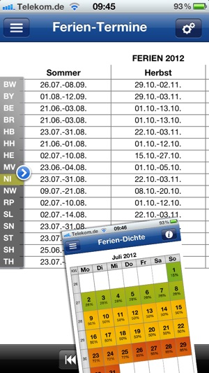Ferien-Kalender Screenshot