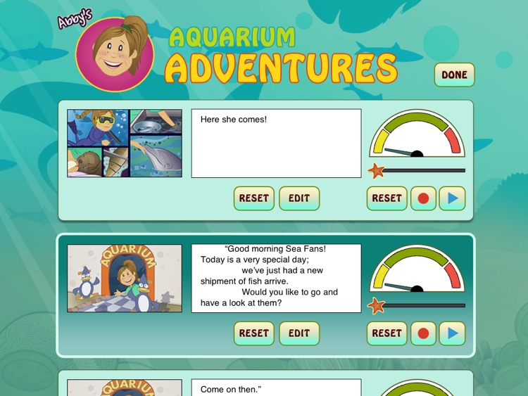 Abby's Aquarium Adventures: Develop your kid's curiosity about the world of sea creatures through this enticing story filled with facts and fun quirks about fish and sea animals; written by Heidi de Maine. (iPad Lite version; by Auryn Apps) screenshot-3