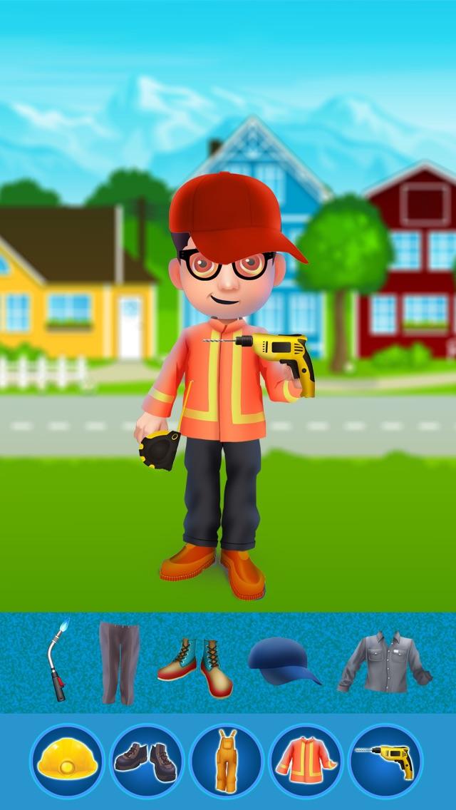 Dress Up Builder Bill - Fun Kids Game-3