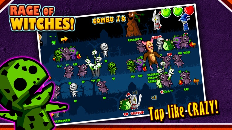Rage of Witches Halloween Tap Tap Special screenshot-0