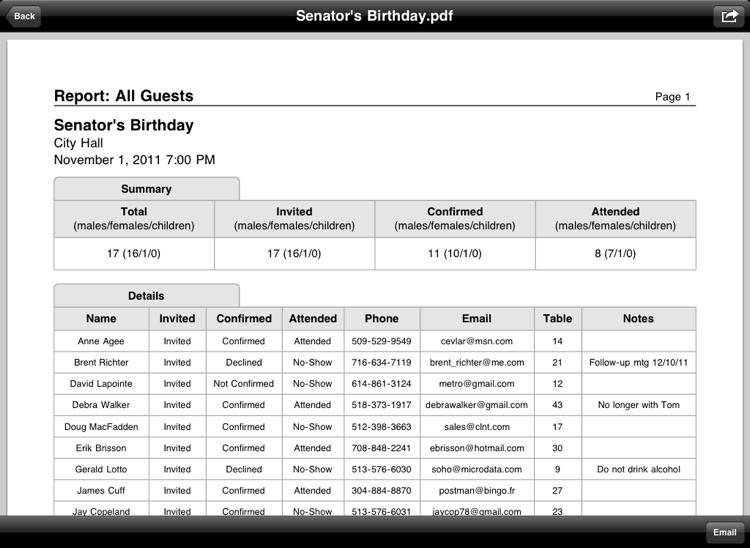Guest List Organizer HD screenshot-4