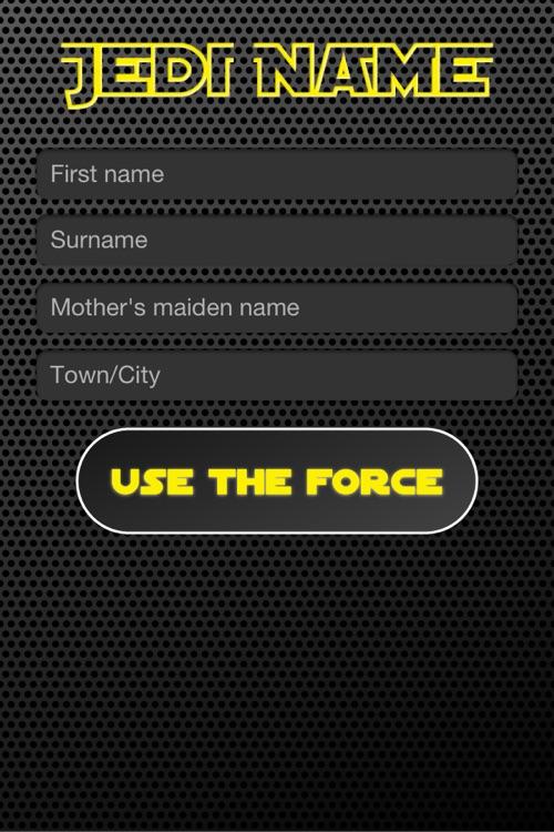 Jedi Name