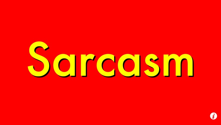 Sarcasm Sign for iPhone