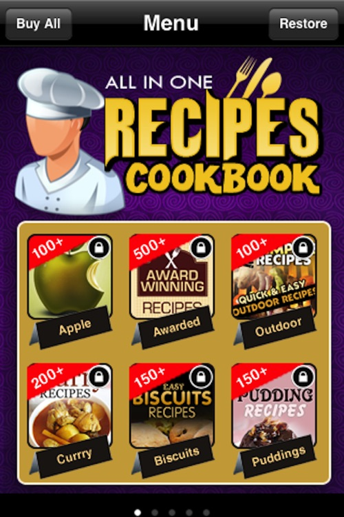 All in One Recipes Cookbook** screenshot-0