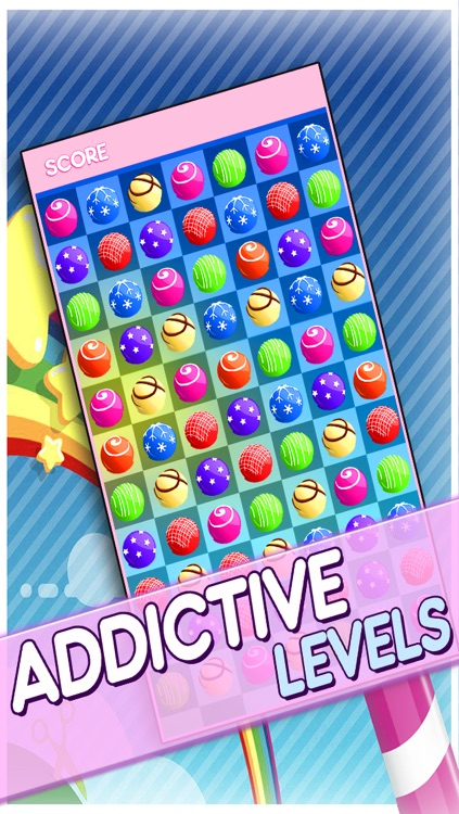 Candy Jewels Mania Puzzle Game - Fun Sugar Rush Match3 For Kids HD FREE