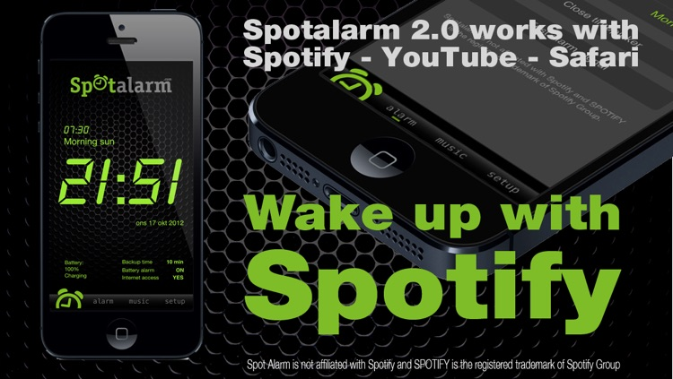 Spotalarm for Spotify and YouTube