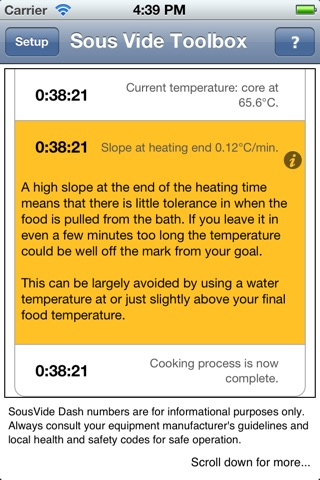 PolyScience Sous Vide Toolbox app image