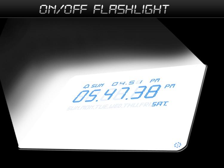 Alarm Clock with Flashlights Lite screenshot-3