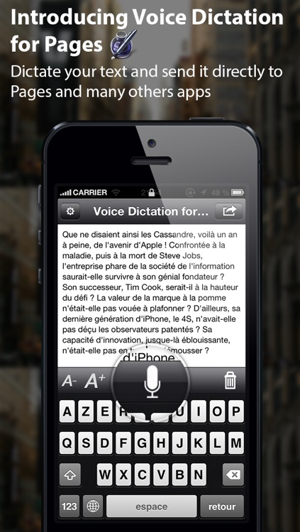 Voice Dictation for Pages