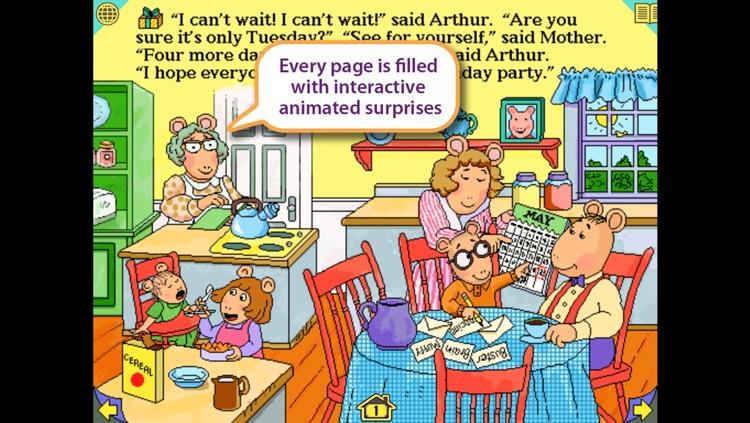 Arthur's Birthday - Wanderful interactive storybook in English and Spanish screenshot-3