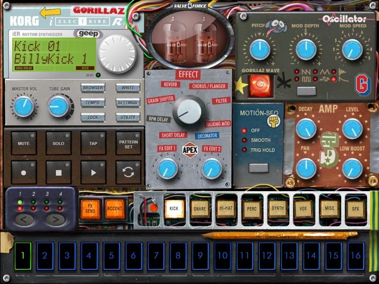 KORG iELECTRIBE Gorillaz Edition screenshot-4
