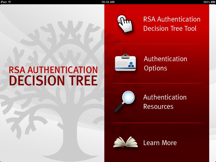 RSA Authentication Decision Tree