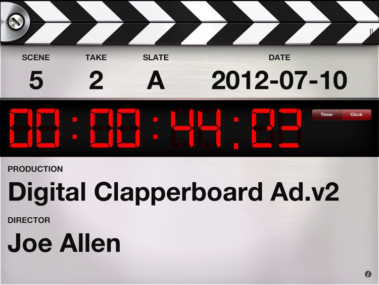 Digital Clapperboard - Timecode Sync and Video Slate screenshot-3