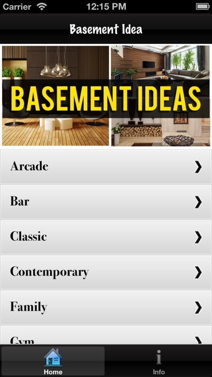 Basement Catalog and Ideas