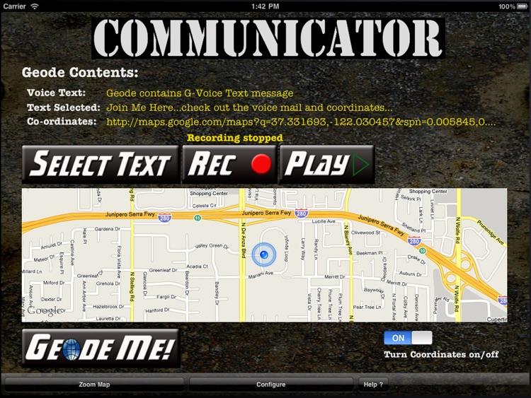 Geode Communicator (iPad Edition) screenshot-3
