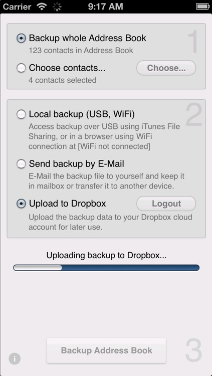 Contacts backup to dropbox lite by pavel kanzelsberger contacts backup to dropbox lite solutioingenieria Image collections