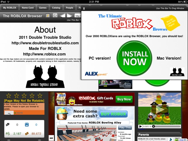 how to change roblox browser