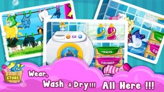 Baby Cloth Wash & Dressup - Girls & Kids Fun Games-1