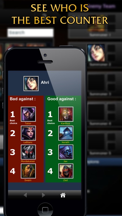 Counter Picks for League of Legends