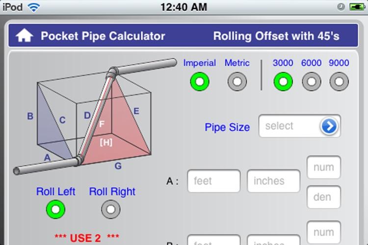 Socket Pipe Calculator