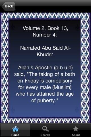Hadith Sahih Al-Bukhari ( Quran Hadeeth Islam ) screenshot-3
