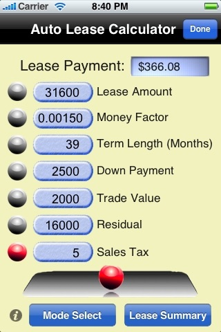 Auto Loan / Lease Calculator screenshot-4