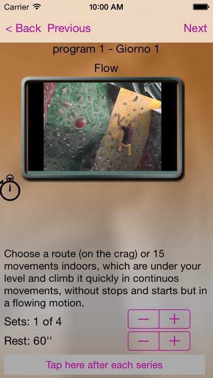 Climbin Training - Allenati per l'arrampicata con il tuo iPhone screenshot-4