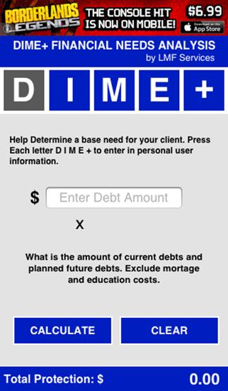 Financial Needs Calculator screenshot one