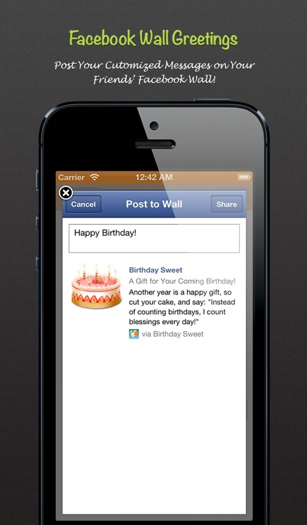 Birthday Sweet - Birthday calendar & reminder for Facebook screenshot-3