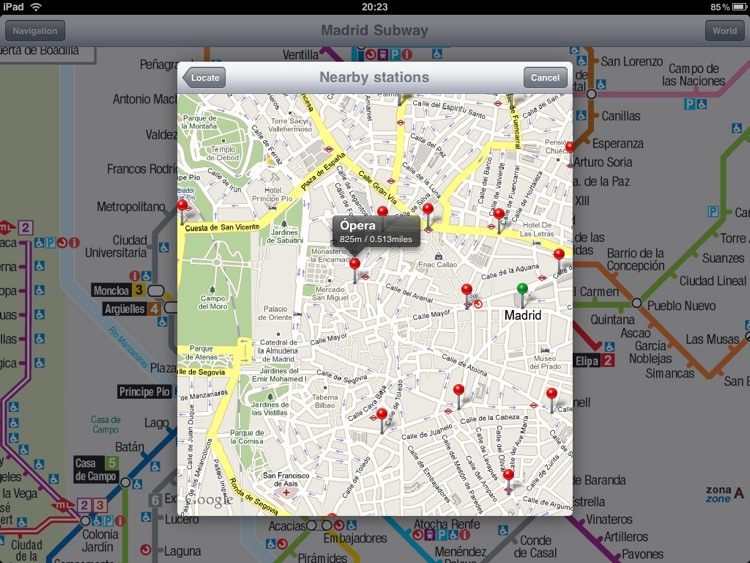 Madrid Subway for iPad screenshot-4