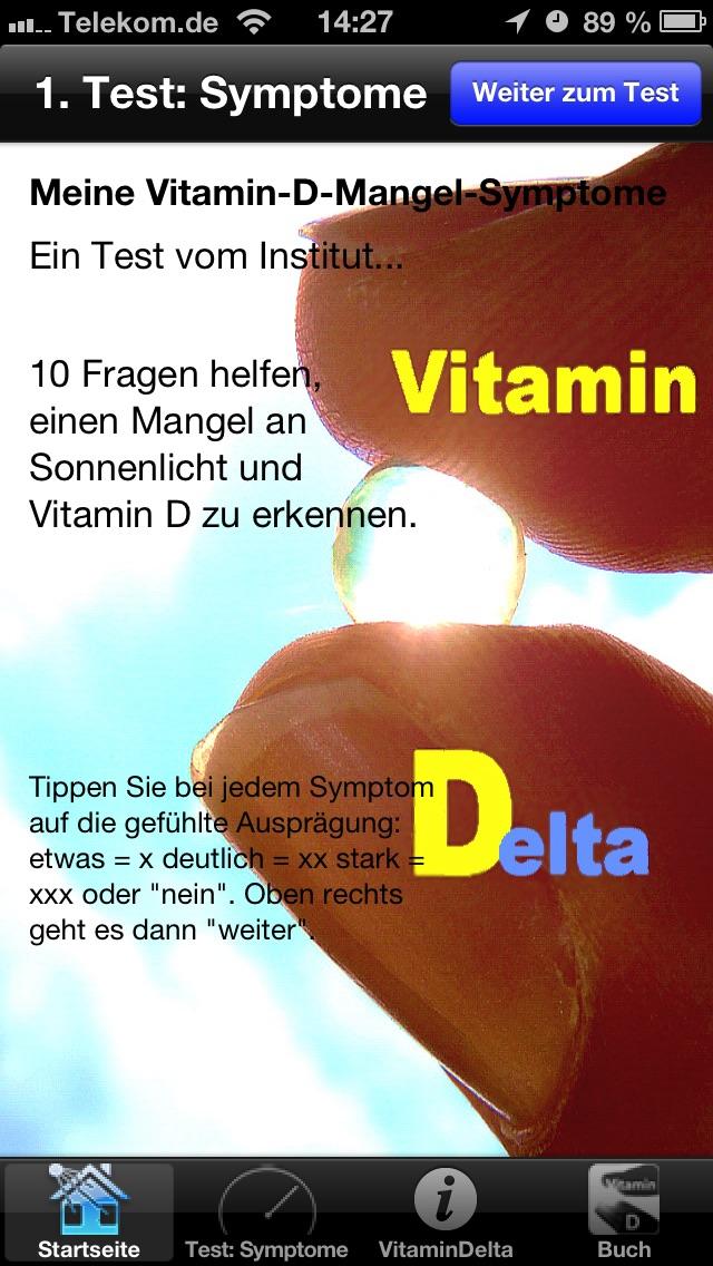 Vitamin D Mangel Test
