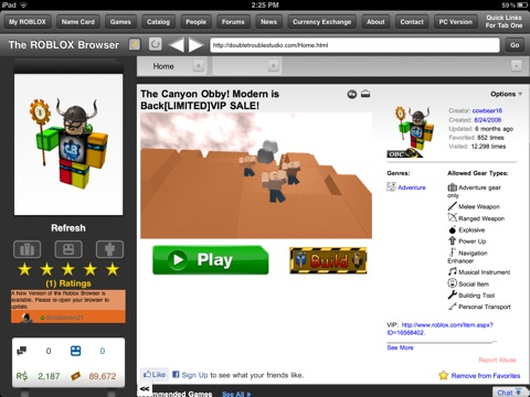 Roblox app vs browser