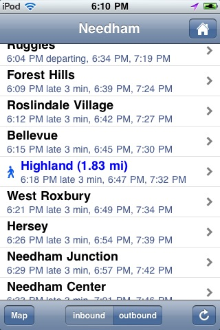 Where's my MBTA Rail? screenshot-2