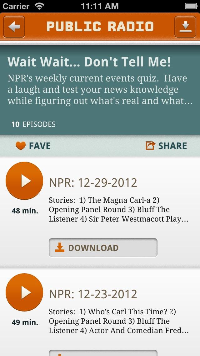 Public Radio Player Screenshot