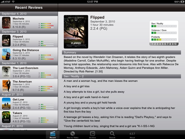 Kids In Mind for iPad - Movie Reviews for Families
