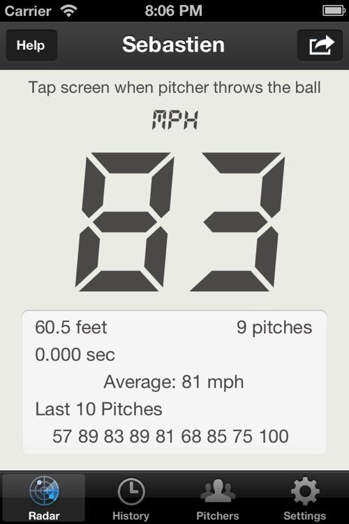 Baseball Pitch Radar Gun