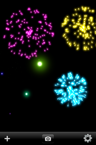 Real Fireworks Artwork Visualizer Free for iPhone and iPod Touch screenshot two