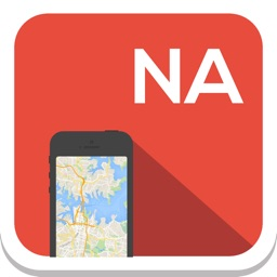 North America (USA, Canada) offline map, guide, weather, hotels. Free navigation.