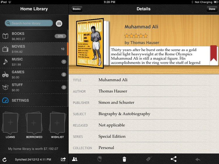 Home Library for iPad screenshot-3