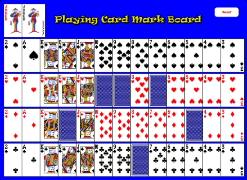 Playing Card Mark Board screenshot 1