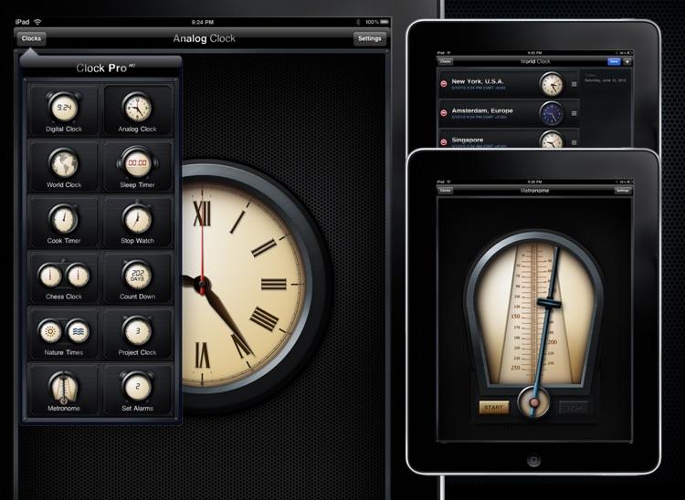 Clock Pro HD screenshot-3