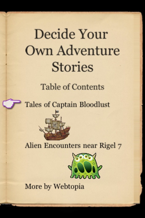 Decide Your Own Adventure Stories