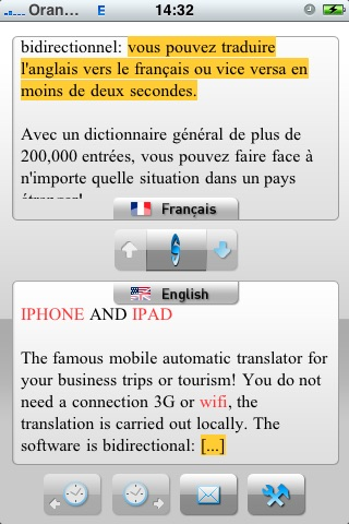 SYSTRAN Mobile Translator English-French screenshot-2